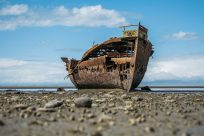shipwreck, boat, ship
